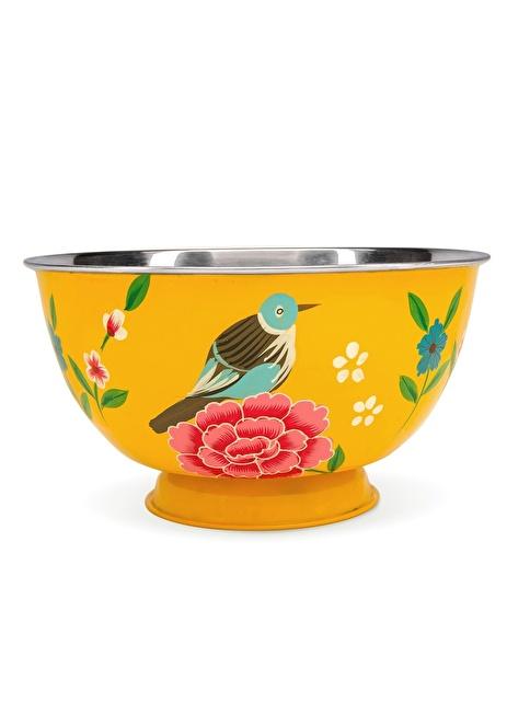 3rd Culture Kuşlu Sarı Kase Sarı